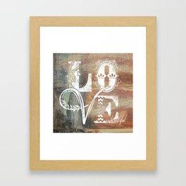 Love is beautiful Framed Art Print