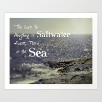 the cure Art Prints featuring Saltwater Cure by ShadeTree Photography