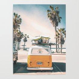 Surf Van Venice Beach California Poster