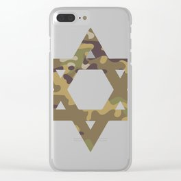 Star of David Camouflage Gift Clear iPhone Case