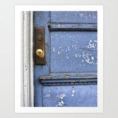 blue door. Art Print