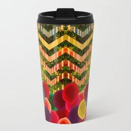 Chevron And Dots Travel Mug