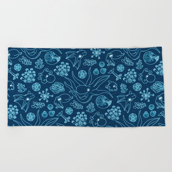 Cephalopods - Bioluminescence Beach Towel