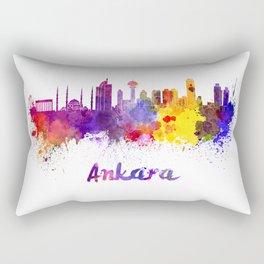 Ankara skyline in watercolor Rectangular Pillow