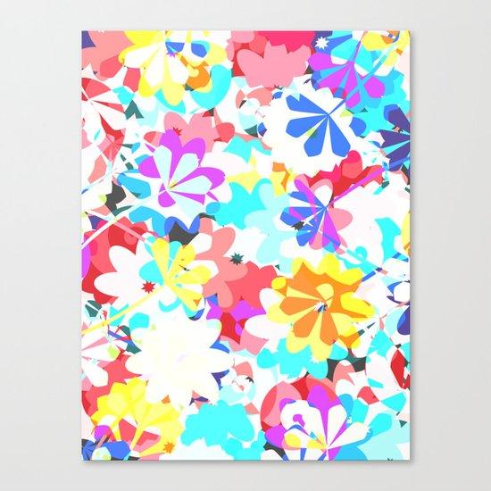 Joyful floral garden Canvas Print