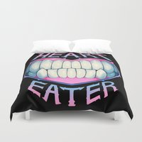 soul eater Duvet Covers featuring heart eater by Ginseng&Honey