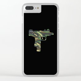 camo uzi Clear iPhone Case