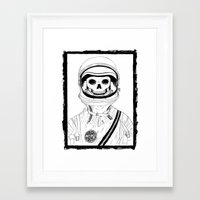 nope Framed Art Prints featuring Nope by CorpseTits