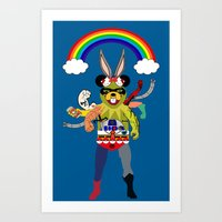Cartoon Creature  Art Print