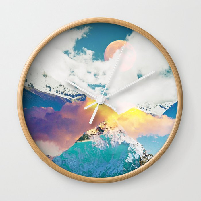 Dreaming Mountains Wall Clock