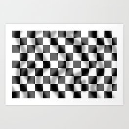 Chequered Flag Slight Ripple Art Print