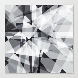black and white multipolygon Canvas Print