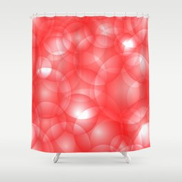 Gentle intersecting red translucent circles in pastel colors with a ruby glow. Shower Curtain