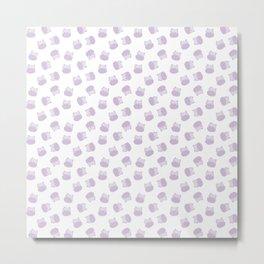 Hippopotamus Pattern Metal Print