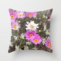 daisy Throw Pillows featuring Daisy by LebensART Photography