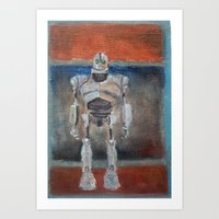 iron giant Art Prints featuring Iron Giant and Rothko by Renee Bolinger