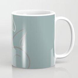 Floral Whimsy Smokey Teal Coffee Mug