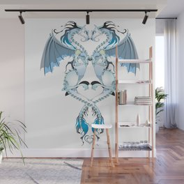 Azure Love Dragons Wall Mural