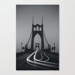 St. Johns Monotone Canvas Print
