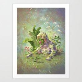 Planted Astronaut Art Print