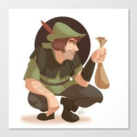 robin hood Canvas Prints featuring Robin Hood by Kenimation