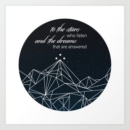 To The Stars - Version 2 Art Print