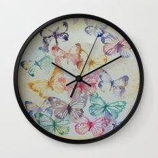 Butterflies II Wall Clock