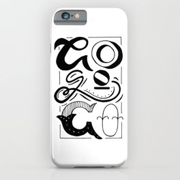 Go Go Go motivational quote iPhone Case