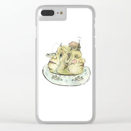 The Two-Faced Rock Clear iPhone Case
