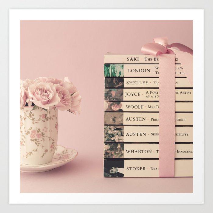 book stack art print by andreka society6