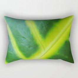 Blown up Leaf Rectangular Pillow