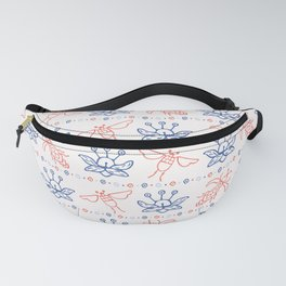 Flying Insect Bugs Seamless Pattern Fanny Pack