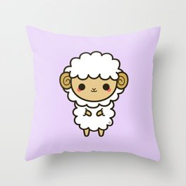 Kawaii zodiac-Aries Throw Pillow