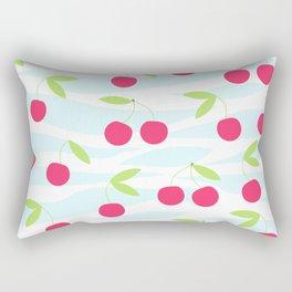 Seamless cherry pattern on striped Rectangular Pillow