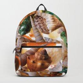 Seashells background Backpack