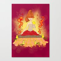 meditation Canvas Prints featuring Meditation by KeijKidz