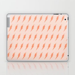 Lightning bolt pattern pink and orange Laptop & iPad Skin