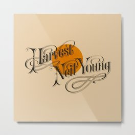 Neil Young: Harvest Metal Print