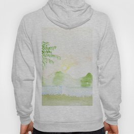 Palm tree in a sunset Hoody