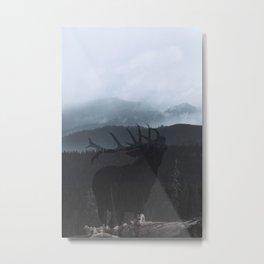 Minimal foggy Landscape #stag Metal Print