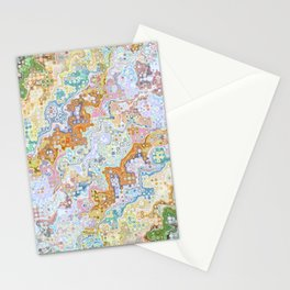 Abstract Shapes Pattern Stationery Cards