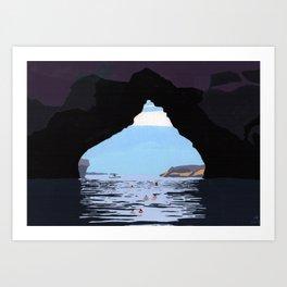 Kayak cove Art Print