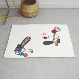 Cat and mouse fight Rug