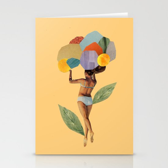 i walk out in the flowers and feel better Stationery Cards