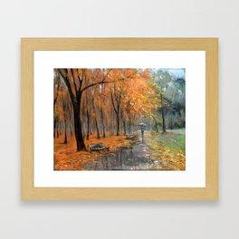 Autumn in the park # 2 Framed Art Print