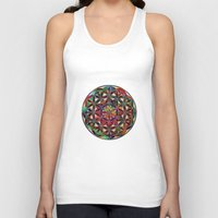 flower of life Tank Tops featuring Flower of Life variation by Klara Acel