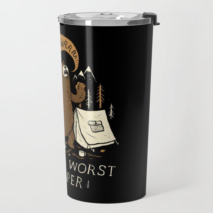 worlds worst camper Travel Mug