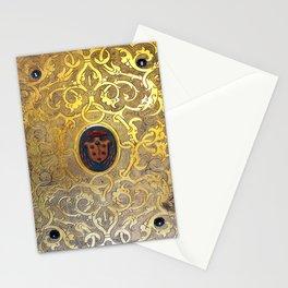Golden Swirls Book Stationery Cards