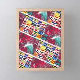 These Suuns Be Armed For Peace Framed Mini Art Print