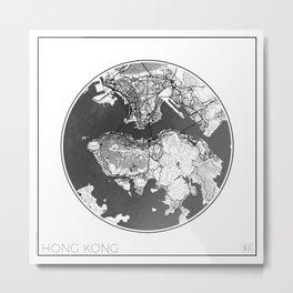 Hong Kong Map Universe Metal Print